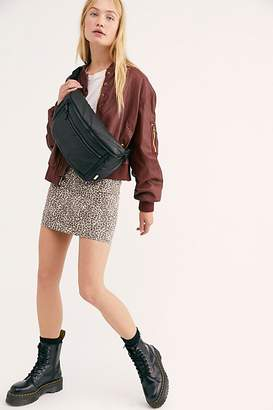 Free People Snap Out Of It Vegan Bomber Jacket