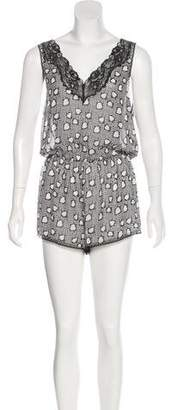 Stella McCartney Lace-Trimmed Printed Romper