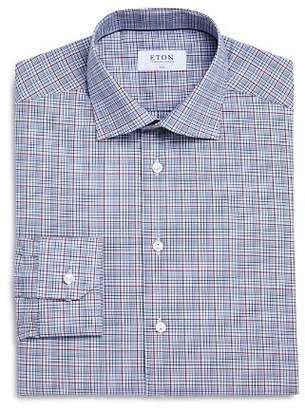 Eton Multi-Check Slim Fit Dress Shirt