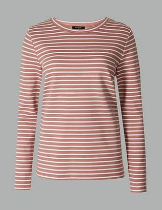 5b26f6d065 Marks and Spencer Striped Round Neck Long Sleeve T-Shirt