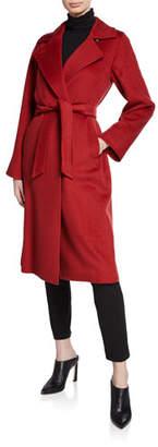 Max Mara Manuela Camel Hair Belted Wrap Coat
