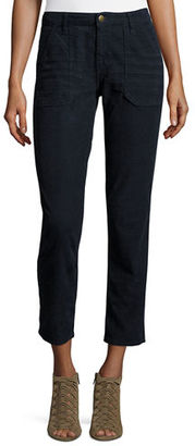 ba&sh Sally Cropped Washed Twill Jeans $220 thestylecure.com