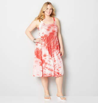 Avenue Tie Dye Crochet Empire Dress