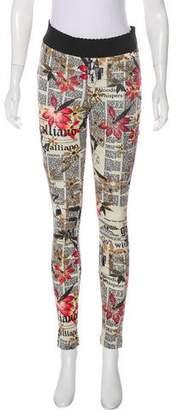 Galliano Newspaper Print Leggings