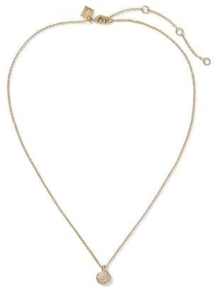 Banana Republic Pave Circle Pendant Necklace