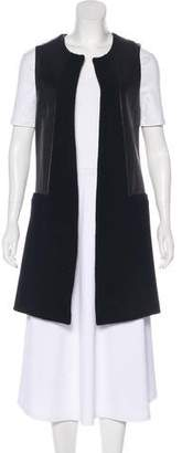 Twelfth Street By Cynthia Vincent Leather-Accented Longline Vest
