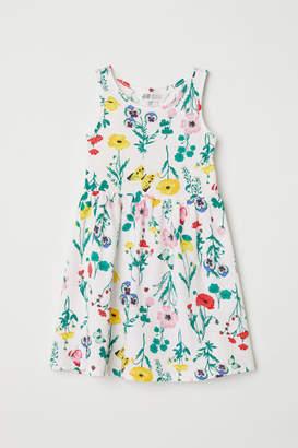 H&M Sleeveless Jersey Dress - White
