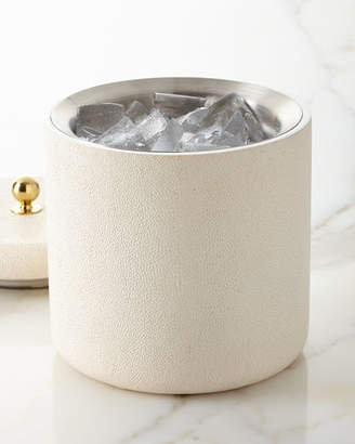 AERIN Faux-Shagreen Ice Bucket, Cream
