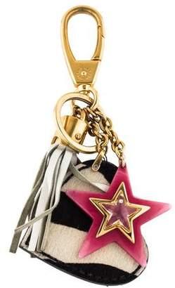 Dolce & Gabbana Ponyhair Heart Keychain