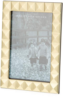 "Monica Rich Kosann Brass Pyramid Picture Frame - 5"" x 7"""