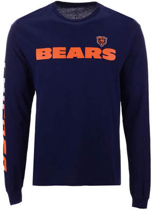 Authentic Nfl Apparel Men's Chicago Bears Streak Route Long Sleeve T-Shirt