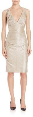 Laundry by Shelli Segal Twist Open Back Metallic Dress $225 thestylecure.com