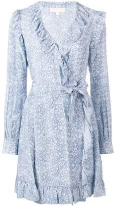 Michael Kors floral wrap-around dress