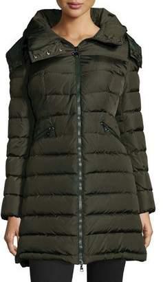 Moncler Flammette Long Puffer Jacket $1,300 thestylecure.com