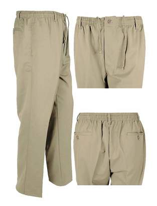 Gents RIDDLED WITH STYLE Mens Rugby Office Pants Mens Elasticated Waist Full Length Novelty Trouser