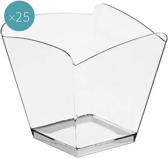 clear Gold Plast Onda Plastic Dessert Bowl (Set of 25),