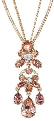 Givenchy Crystal Cluster Pendant Necklace