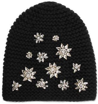 311a122f59df1 ... Jennifer Behr Crystal-embellished Alpaca Beanie - Black