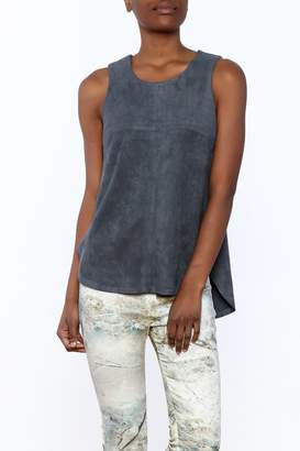 Tart Collections Grey Sleeveless Top