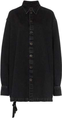 Unravel Project denim collared oversized jacket