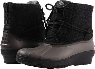 Sperry Saltwater Wedge Tide Wool Women's Dress Boots