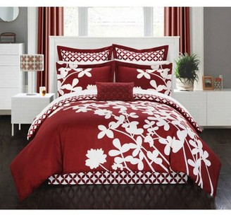 Chic Home Ayesha 7-Piece Floral Comforter Set
