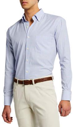 d38292aa41d Peter Millar Men s Sullivan Mini Check Woven Shirt