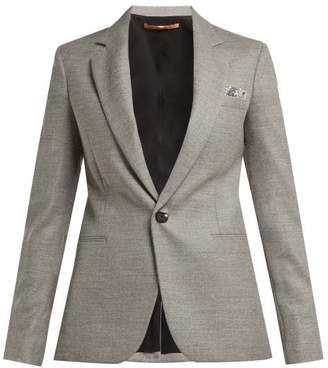 Summa - Sequin Trimmed Wool Blend Blazer - Womens - Grey