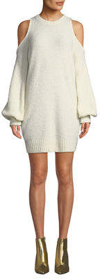 Lovers And Friends Phoenix Cold-Shoulder Cozy Sweater Dress