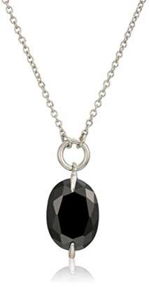 Halston H CZ Stone Pendant Necklace