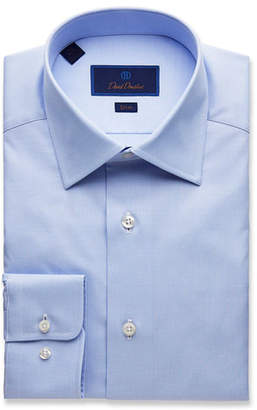 David Donahue Men's Slim-Fit Micro Dobby Dress Shirt