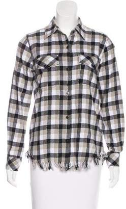Current/Elliott Gingham Button-Up Top