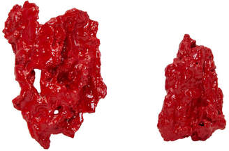 Ingy Stockholm Red Object No. 15 Asymmetric Earrings