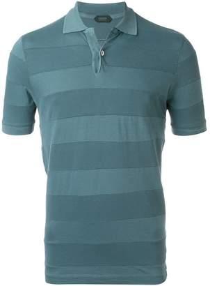 Zanone striped polo shirt