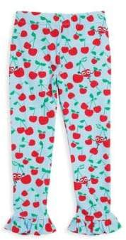 Fendi Toddler's, Little Girl's& Girl's Blue Cherry-Print Leggings