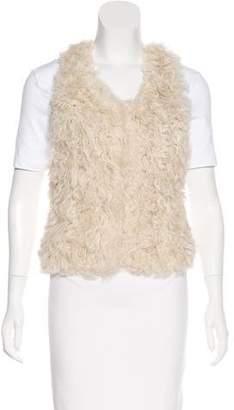 Isabel Marant Knit Shearling Vest