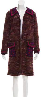 Anna Sui Boucle Knee-Length Coat