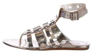 Alexander McQueen Metallic Gladiator Sandals