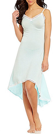 Betsey Johnson Betsey Johnson Crochet-Trimmed Hi-Low Nightgown