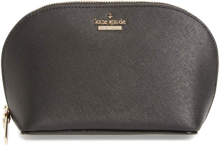 Kate Spade New York Cameron Street - Small Abalene Leather Cosmetics Bag