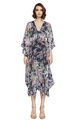 BCBGMAXAZRIA Kylia Rose Floral Handkerchief Dress