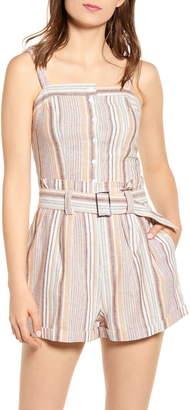 LIRA Gianna Stripe Linen & Cotton Top