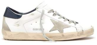 Golden Goose Super Star Low Top Leather Trainers - Mens - White Multi