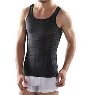 BlingBling Men Corset Body Slimming Tummy Shaper Vest Belly Waist Girdle Shirt Shapewear Underwear Waist Girdle Shirt Size S