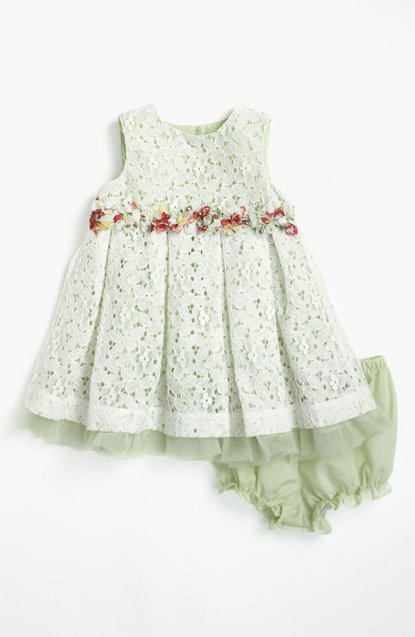 Pippa & Julie Lace Dress & Bloomers (Infant)