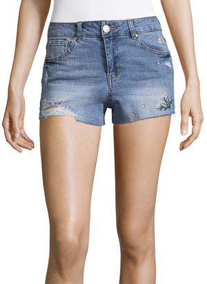 Almost Famous 2 1/2 Denim Shorts-Juniors