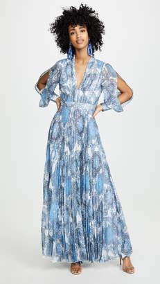 Alice + Olivia Cheney Slit Pleated Dress