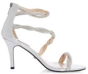 Quiz Diamante Twist Bridal Sandals
