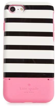 Kate Spade stripe credit card iPhone 7/8 & 7/8 Plus case