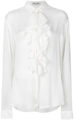 Saint Laurent ruffle placket shirt